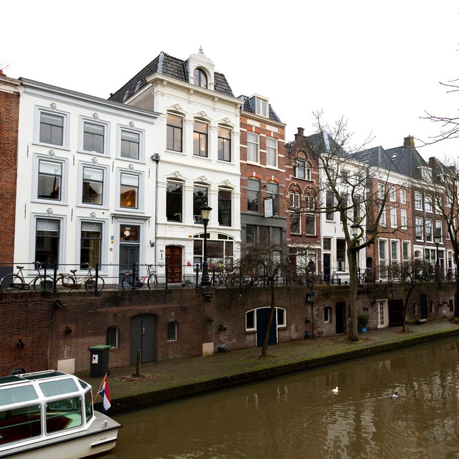 Mary K Hotel Utrecht uitzicht gracht