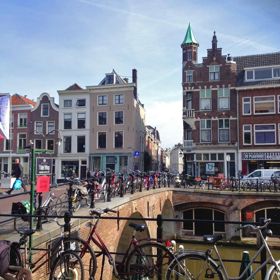 Brug in Utrecht centrum