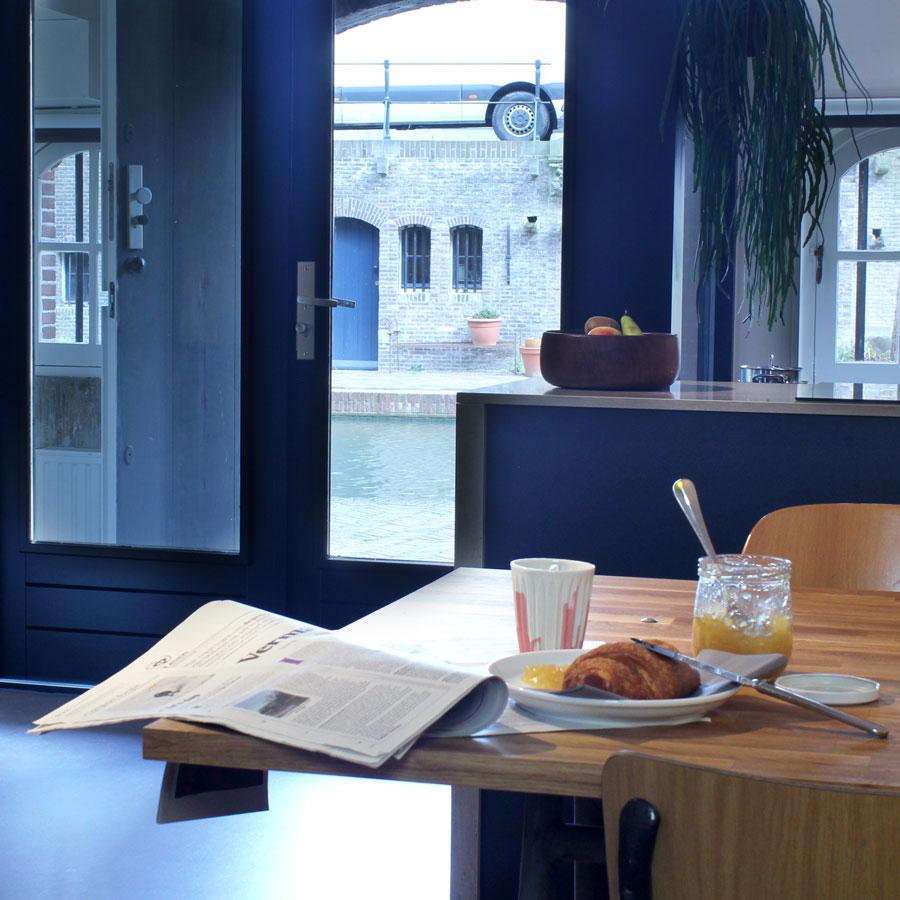 Ontbijten aan de gracht in Utrecht